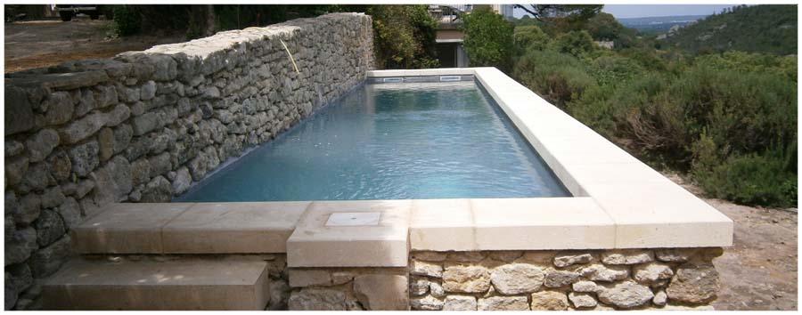 Atek ma onnerie de qualit dans le gard r alisation de for Construction piscine enterree